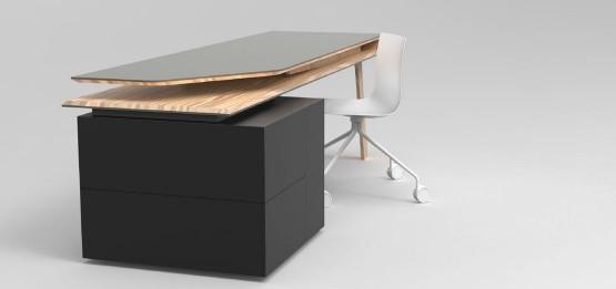 bureau avec rangement design