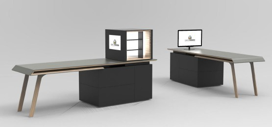bureaux design sur mesure 3d mobilier de bureau haut de gamme. Black Bedroom Furniture Sets. Home Design Ideas
