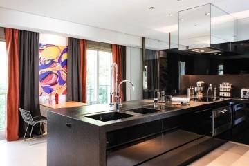 meuble évier cuisine sur mesure haut de gamme